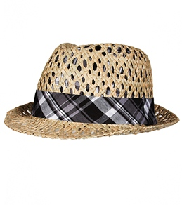 Sun N Sand South Beach Gambler Straw Fedora
