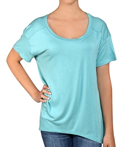 Hurley Girls' Solid Oversize S/S T-Shirt