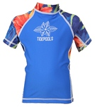 Tidepools Girls' Lahaina S/S Rash Guard (2-14yrs)