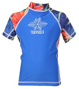 Tidepools Girls' Lahaina S/S Rash Guard (2-14yrs)