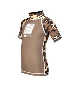 Tidepools Boys' Camouflage S/S Rash Guard
