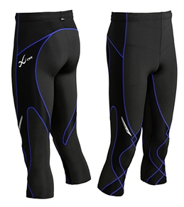 CW-X Men's 3/4 Length Stabilyx Compression Running Tights