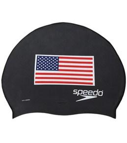 Speedo Silicone US Flag Cap