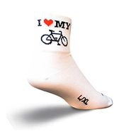 Sockguy Heart My Bike 3 Classic Sock