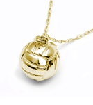 Sports Collection Jewelry Small Water Polo Ball Pendant 14k Gold