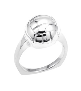 Sports Collection Jewelry Water Polo Ring Rhodium Plated