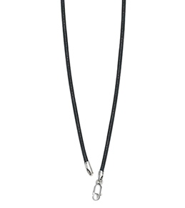Sports Collection Jewelry Black Leather Necklace