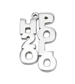 Sports Collection Jewelry H2O Polo Charm Rhodium Plated