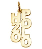Sports Collection Jewelry H2O Polo Charm 14k Gold Plated
