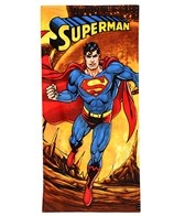 JP Imports Superman Firey Planet Beach Towel