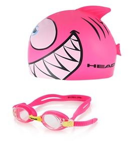 HEAD Swimming Meteor Cap and Goggle Pink Set