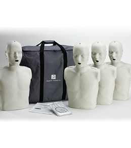 Prestan Professional Adult CPR-AED Training Manikins 4 Pack & Kit
