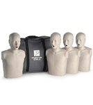 prestan-professional-adult-cpr-aed-training-manikins-4-pack-w50-adult-face-shield-lung-bags-instructions-case