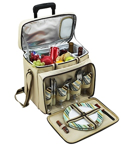 Picnic at Ascot Santa Cruz Picnic Cooler For Four On Wheels