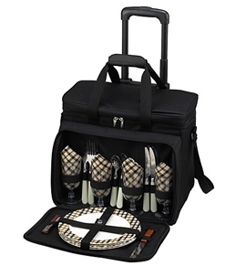 Picnic at Ascot London Picnic Cooler For Four On Wheels