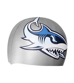 Dolfin Shark Mascot Silicone Cap