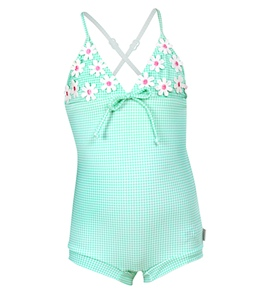 Seafolly Girls' Vintage Vacation Retro Boyleg 1PC