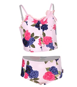 Seafolly Girls' Sunday Rose Bustier Bikini Set