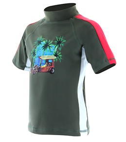 Tiger Joe Boys' Vintage Surf S/S Rash Guard