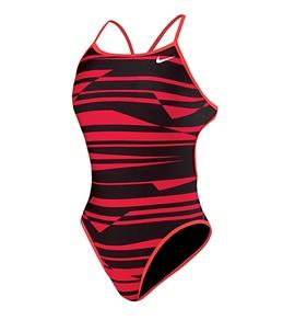 Nike Swim Shadow Stripe Reversible Cut Out Tank