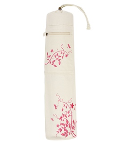 Gaiam Dragonfly Embroidered Yoga Mat Bag