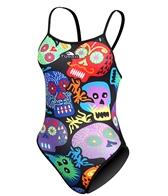 Turbo Skulls One Piece Swimsuit