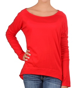 Hurley Girls Solid Luxe L/S T-Shirt