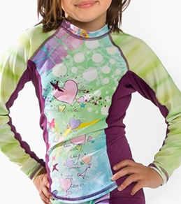 Girls4Sport Toddler Fairy Garden Long Sleeve Rashguard