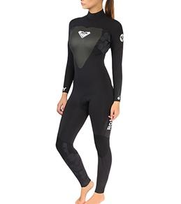Roxy Women's Syncro 5/4/3mm L/S Back Zip Full Wetsuit
