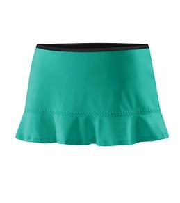 Speedo Solid Ruffled Swim Skirt