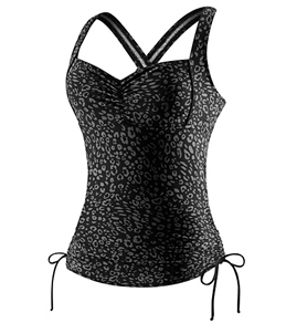 Speedo On Safari Cross Back Tankini Top