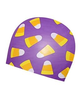 Sporti Candy Corn Silicone Swim Cap