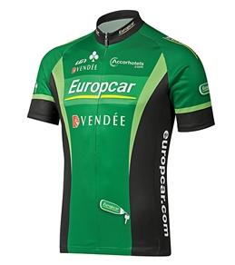 Louis Garneau Men's Europcar Replica Team Cycling Jersey