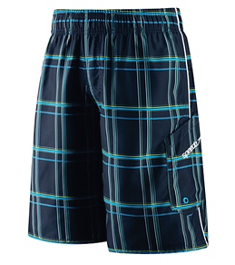 Speedo Boys' Marina Classic Plaid