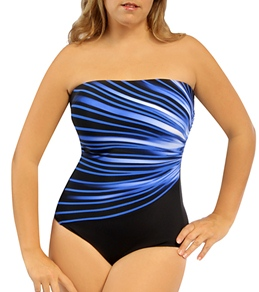 Reebok Fitness Swim Streak Of Light Bandeau