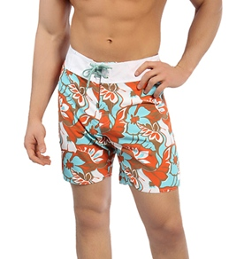 Sauvage Red/Sky Floral Boardshorts