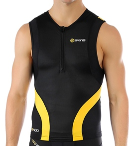 SKINS Men's TRI400 Compression Sleeveless Top with Front Zip