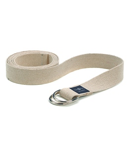 Hugger Mugger 8' Hemp Yoga Strap w/ D Ring