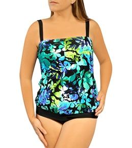 Delta Burke Watercolor Tropics Plus Size 1PC