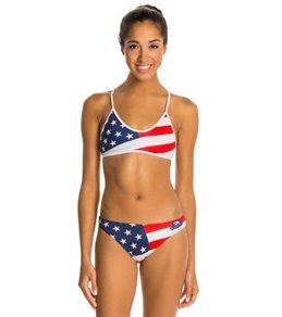 Turbo USA Flag Bikini Swimsuit Set