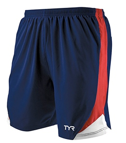 "TYR Male 7"" Running Shorts"