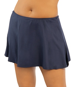 Beach House Solid Plus Size Swim Skirt