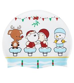 Sporti Christmas Meet Silicone Swim Cap