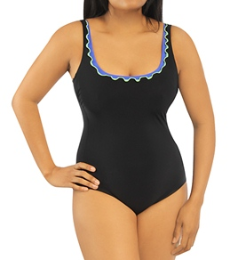 Profile By Gottex Solid Tri-Colore D-Cup One Piece