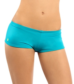 Hurley Swim Girls' One & Only Solids Boyshort Bottom