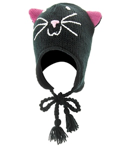 ClubSwim Knitted Black Cat Hat