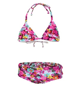 Roxy Teenie Wahine Daisy Gypsy Tiki Triangle Ruffle Set (2T-6)