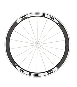 HED Jet 4 Flamme Rouge Front Wheel 700c Clincher 23mm x 45mm, SCT Carbon