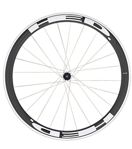 HED Jet 4 Flamme Rouge Rear Wheel 700c Clincher 23mm x 45mm, SCT Carbon