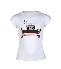 Roxy Teenie Wahine Musical Dog Baby T-Shirt (2T-6X)
